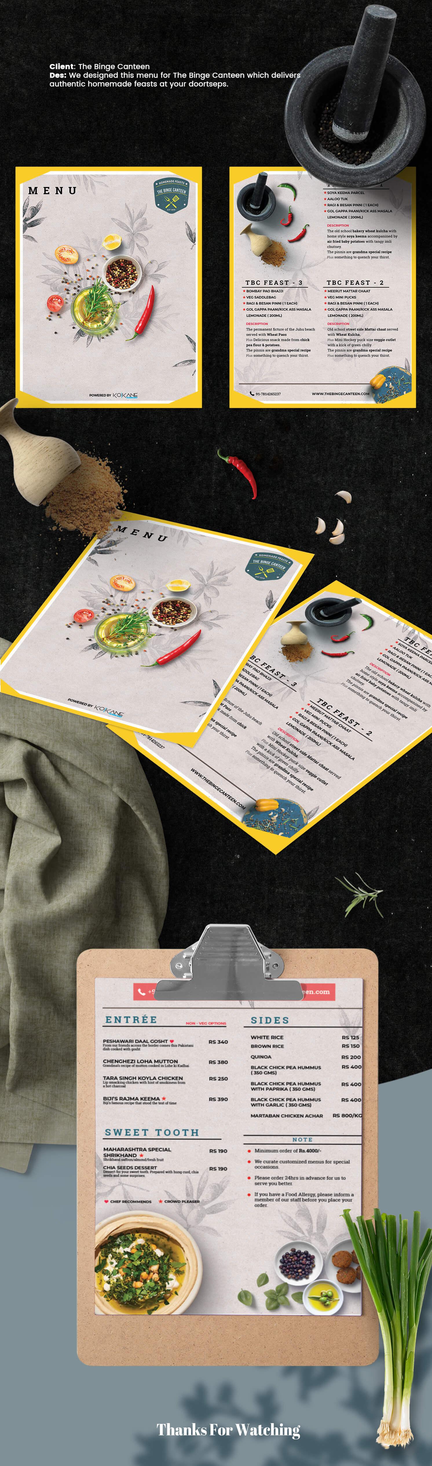 menu design by ko-kane